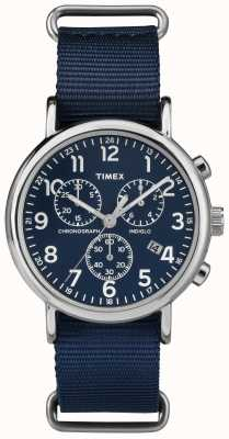 Timex Unisex Weekender Chronograph Navy Blue TW2P71300