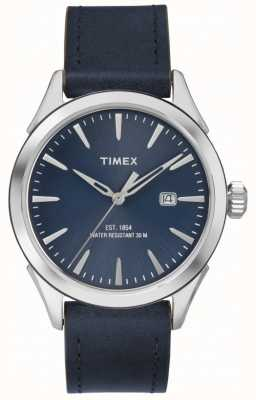 Timex Mens Chesapeake Blue Leather TW2P77400
