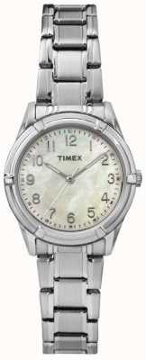 Timex Womans Easton Avenue Pearl Dial Steel Strap TW2P76000