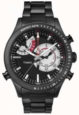 Timex Mens Chronograph Timer Black Metal Strap TW2P72800