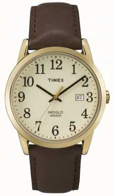 Timex Men's Easy Reader Cream Dial Leather Strap TW2P75800
