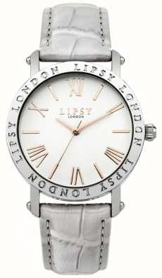 Lipsy Womens Grey Strap Silver Case White Dial LP454