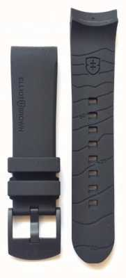 Elliot Brown Mens 22mm Black Rubber Black Buckle Strap Only STR-R08