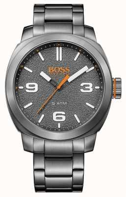 Hugo Boss Orange Mens Grey Tone Stainless Steel Grey Dial 1513420