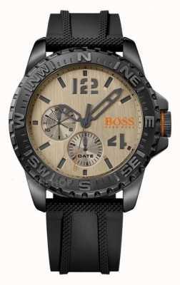 Hugo Boss Orange Mens Reykjavik Black Rubber Strap Cream Dial 1513422