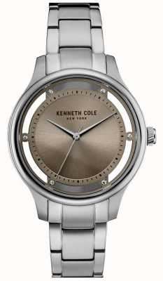 Kenneth Cole Womens Stainless Steel Bracelet Silver Dial KC10030795