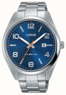 Lorus Mens Stainless Steel Bracelet Blue Dial RH961GX9