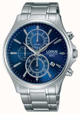 Lorus Mens Stainless Steel Bracelet Blue Dial RM309DX9