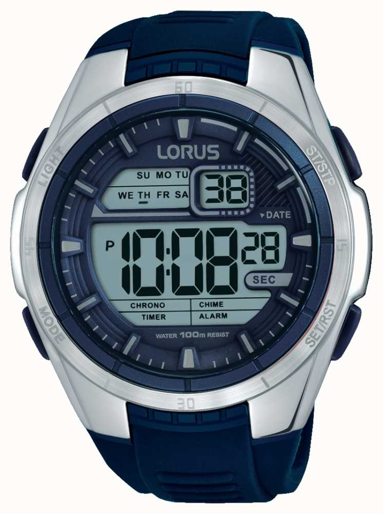 Lorus Mens Chronograph Alarm Stainless Steel Case R2315lx9 First