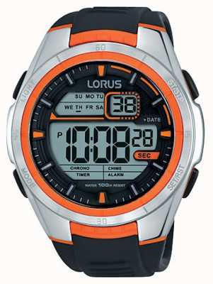 Lorus Mens Alarm Chronograph Stainless Steel Case R2311LX9
