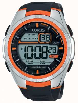 Lorus Mens Alarm Chronograph Stainless Steel Case R2311LX9