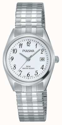 Pulsar Womens Stainless Steel Bracelet White Dial PH7443X1