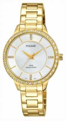 Pulsar Womens Gold Tone Stainless Steel Silver Dial PH8218X1