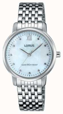 Lorus Womens Stainless Steel Bracelet Pink Mother Of Pearl Dial RG223LX9