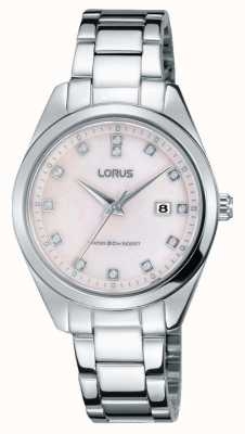 Lorus Womens Stainless Steel Bracelet Pink Mother Of Pearl Dial RJ247BX9