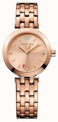 Juicy Couture Womens Cali Rose Gold Tone Stainless Steel Rose Gold Dial 1901460