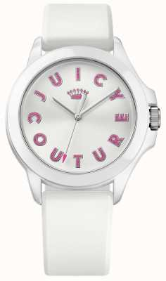 Juicy Couture Womens Fergie White Rubber Strap White Dial 1901464