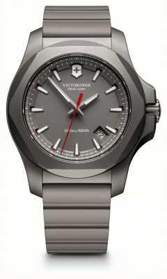 Victorinox Swiss Army Mens I.N.O.X Titanium Grey Rubber Strap Grey Dial 241757
