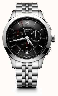 Victorinox Swiss Army Mens Alliance Chronograph Stainless Steel Black Dial 241745