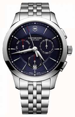 Victorinox Swiss Army Mens Alliance Chronograph Stainless Steel Blue Dial 241746