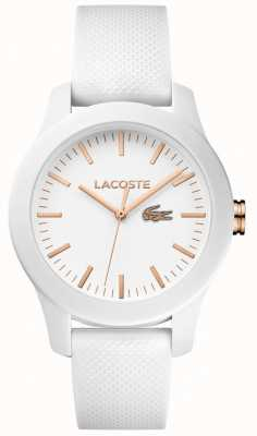 Lacoste Womens 12.12 White Rubber Strap White Dial 2000960