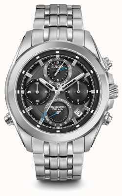 Bulova Mens Precisionist Chronograph Stainless Steel Bracelet 96B260