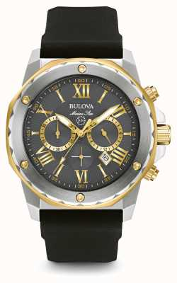 Bulova Mens Marine Star Black Rubber Strap 98B277