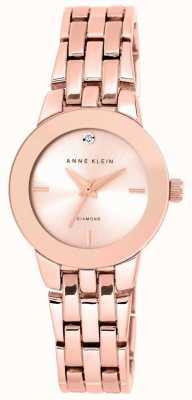 Anne Klein Womens Rose Gold Tone Bracelet Rose Gold Dial AK/N1930RGRG