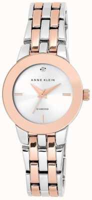 Anne Klein Womens Two Tone Bracelet Silver Dial AK/N1931SVRT