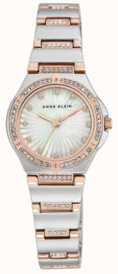 Anne Klein Womens Two Tone Bracelet Mother Of Pearl Dial AK/N2417MPRT