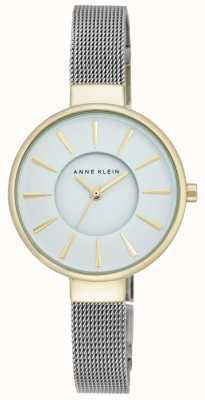 Anne Klein Womens Stainless Steel Mesh White Dial AK/N2443WTTT