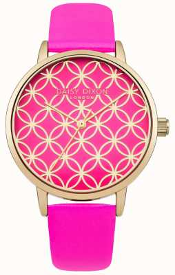 Daisy Dixon Womens Penny Pink Leather Strap Rose Gold DD034PG
