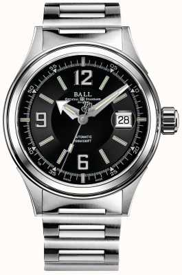Ball Watch Company Fireman Racer Automatic Stainless Steel Bracelet Black Dial NM2088C-S2J-BKWH