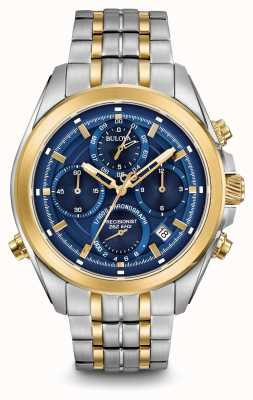 Bulova Mens Precisionist Chronograph | Stainless Steel/PVD Strap | 98B276
