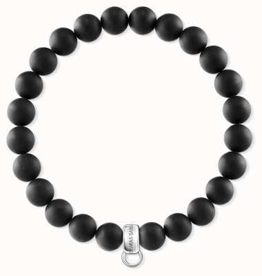 Thomas Sabo Sterling Silver Obsidan Bracelet X0219-023-11-L17,5