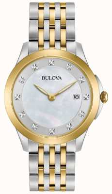 Bulova Women's Gallery Diamond Two Tone Bracelet Watch 98S161