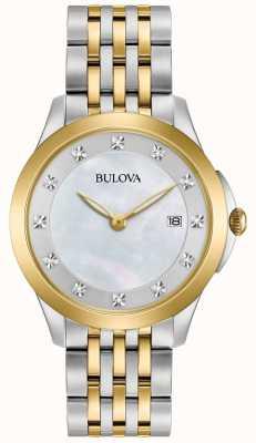 Bulova Womans Gold Plated Two Tone Diamond 98S161