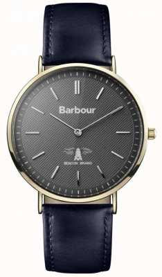 Barbour Mens Hartley Black Dial Black Leather Strap BB055GDBL