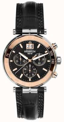 Michel Herbelin Mens Newport Rose Chronograph 36654/TR14