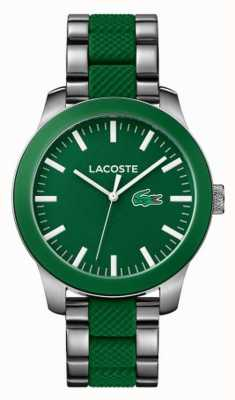 Lacoste Mens Green Rubber And Stainless Steel Strap 2010892