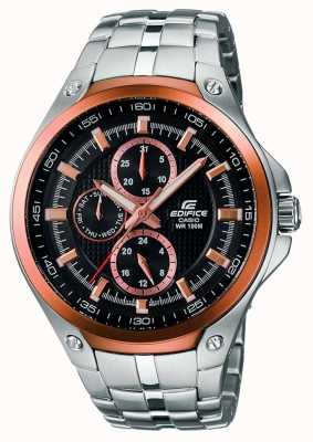 Casio Mens Edfice Stainless Steel And Rose Gold Plated EF-326D-1AVUEF