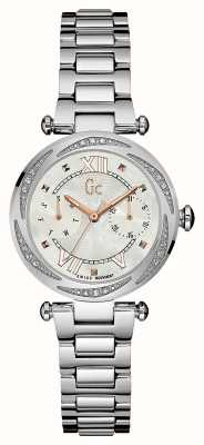 Gc Ladies Precious Day Date Silver Y06111L1