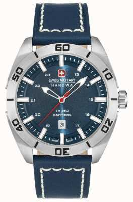 Swiss Military Hanowa Champ Blue Leather Strap 6-4282.04.003