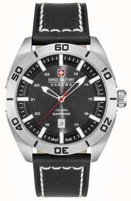 Swiss Military Hanowa Champ Black Leather 6-4282.04.007