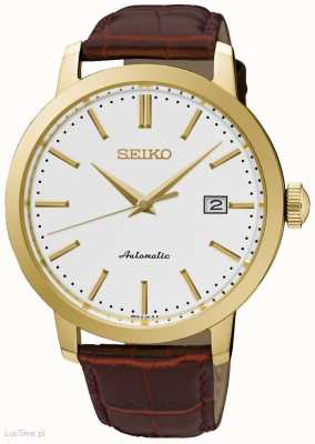 Seiko Mens Automatic Red Leather SRPA28K1