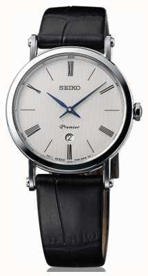 Seiko Premier Ladies Sapphire Glass Black Leather SXB431P1