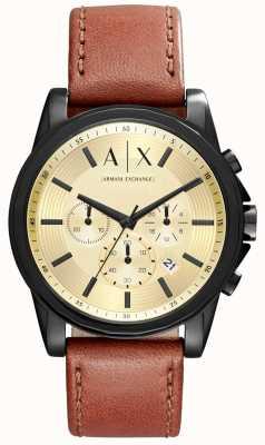 Armani Exchange Mens Chronograph Brown Leather Strap AX2511