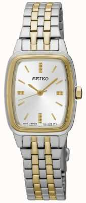 Seiko Womens Two Tone Tonneau SRZ472P1