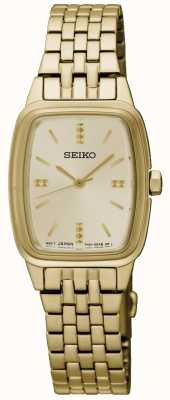 Seiko Womens Gold Plated Tonneau SRZ474P1