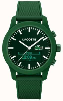 Lacoste Mens 12.12 Contact Bluetooth Smart Watch Green Rubber 2010883
